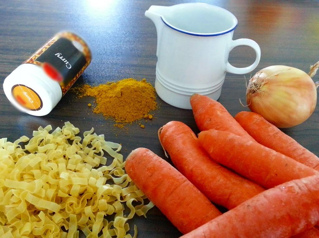 Currymöhren - die Zutaten