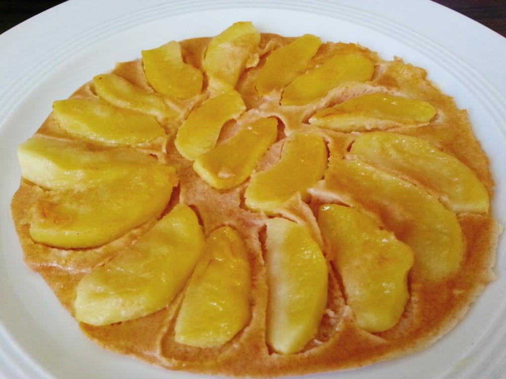 Der fertige Apfelpfannkuchen