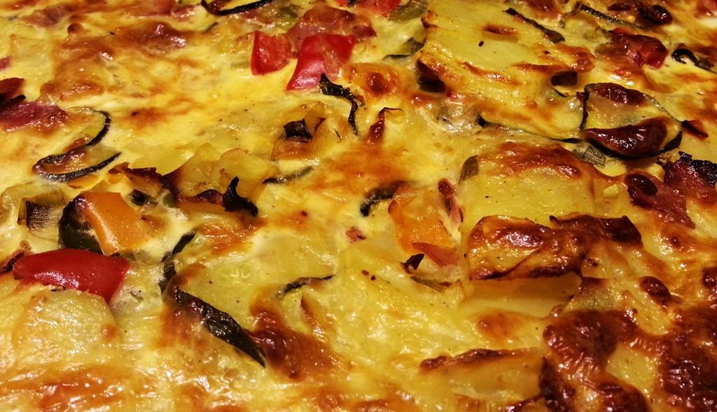 Lecker und knusprig: Die fertige Tortilla.